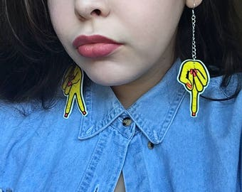 Large Statement Earrings: Hand Signs