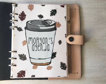 Custom Coffee Autumn Planner Dashboard // Pocket, Personal, A5