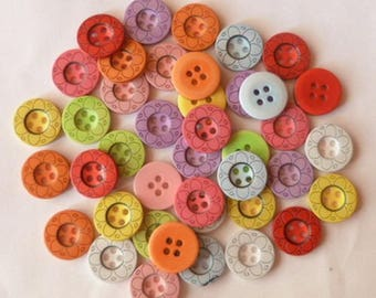 18 buttons sewing scrapbooking 1.5 blend baby cm flower DECORATION