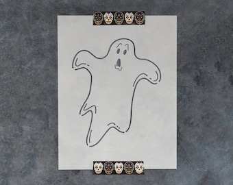 Ghost Stencil - Reusable DIY Craft Stencils of a Ghost