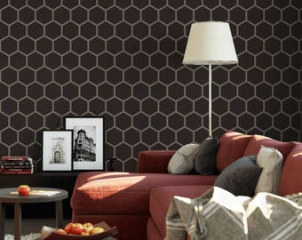 Honeycomb Stencil - Highly Durable Reusable Hexagon Stencil Pattern