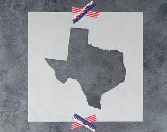 Texas State Stencil - Hand Drawn Reusable Mylar Stencil Template