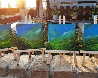 Four Landscape Paintings Combo