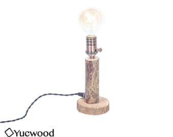 "Wooden lamp, ""Willow One"", desk lamp, night lamp, lighting, Industrial Lighting, handmade, (including Led Filament!)"
