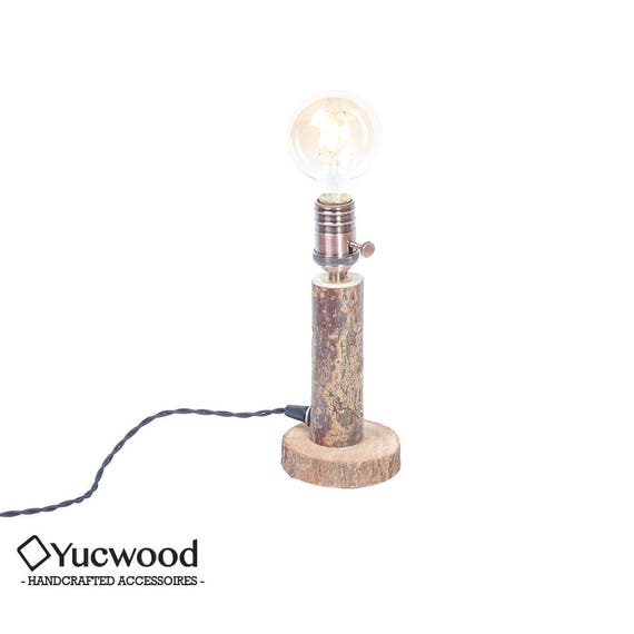 "Wood lamp, ""Willow One"", desk lamp, night lamp, lighting, industrial lighting, handmade, (including Led Filament!)"