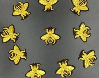 10PCS/LOT mini Bee patch Embroidery sew on iron on patch Decoration Accessories Embroidered patch  no.139