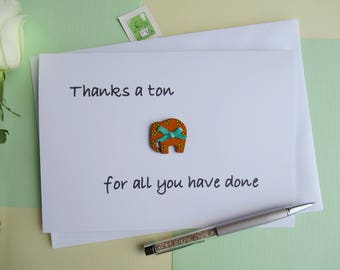 Funny Thank You Card - Funny Thank You - Thank You Card - Elephant Card - Quirky Thank You - Thanks You Cards - Thank You - Thanks You