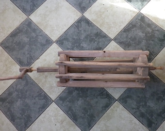 antique / early 19th / loom maschine wood part / over 90 cm length