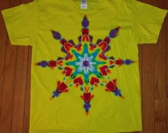 L Mandala tie dye t-shirt