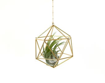 Himmeli Icosahedron No01 für Luftpflanze Pflanzenhänger Pflanzenhalter Geschenkidee geometrisch deko