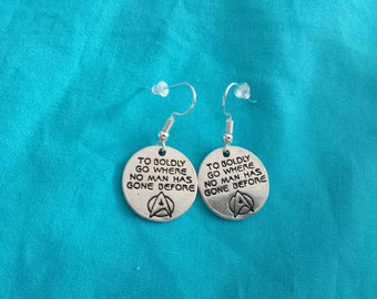 Star Trek earrings - to boldly go where no man has gone before