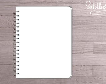 Clear notebook template