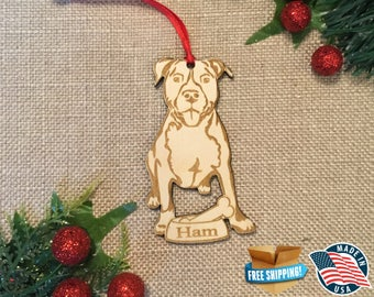 Pit Bull Pitbull Ornament *** Pit Ornament *** Personalized Dog Ornament  ***Dog Lover Gift *** Christmas Holiday Ornament ***