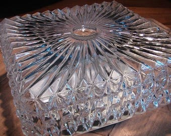 Thick 1960s glass ceiling light