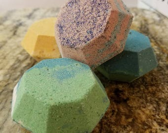 Bath Bombs, Bath Fizzies in Our 3 Pack, Different Sizes and Shapes