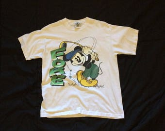 Vintage Mickey Mouse Donald Duck Golf T Shirt