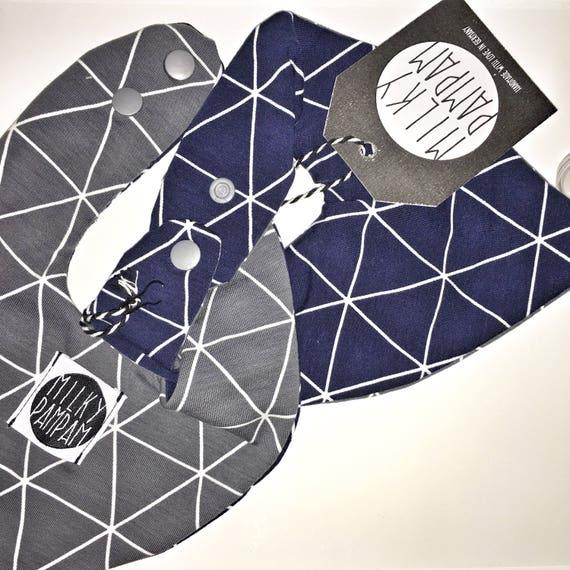 MILKYBIB Triangle bib- scarf- with pacifier holder