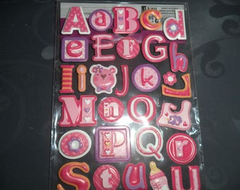 stickers embossed theme baby girl new great quality