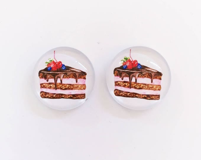 The 'All Things Cake' Glass Earring Studs