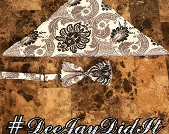 Custom bow tie & handkerchief