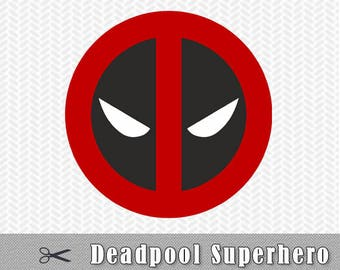 Deadpool Superhero Layered SVG Dxf PNG EPS Logo Vector File Silhouette Studio Cameo Cricut Design Template Stencil Vinyl Decal Tshirt Craft