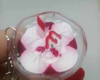 Strawberry ice cream Cup keychain