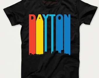 Vintage 1970's Style Dayton Ohio Skyline Kids T-Shirt