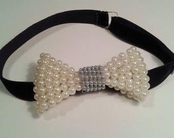 Bow tie for men,white bow tie, Bow tie