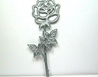 Long Stem Rose Metal Cutting Die Card Making Die