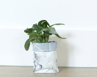 Plantentas | Plantbag | Storage Basket | Woonaccesiores | Basket | Basket | Pencil | Pencilbasket-Marble