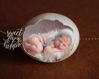 Easter newborn digital background. White egg  on dark background . Instant download, jpg file.