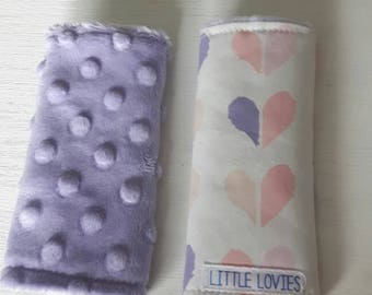 Car seat strap covers  - Hearts