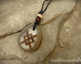 Rune ~ g ~ necklace made of Horn