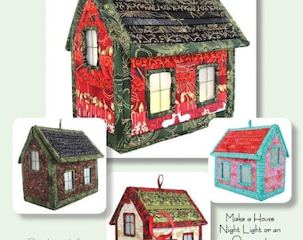 Leave the LIghts On Quilted Holiday House Pattern