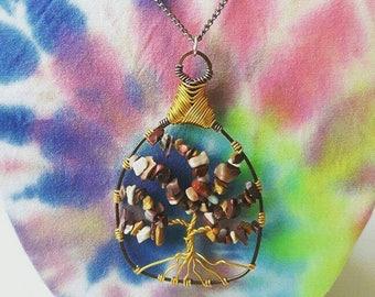 Mookaite Jasper Tree of Life Pendant