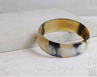 Horn cuff bracelet 2.5cm wide multiple colors