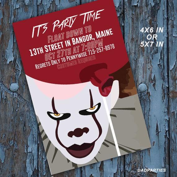 Halloween Halloween Invitation Pennywise It It Movie