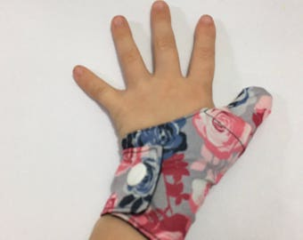 Cache-inch floral weaning thumbs guard, cache-inch, protects thumb, anti sucking thumb glove, glove weaning