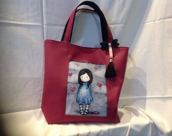 Cabas bag with gorjuss doll