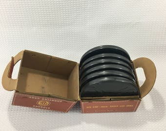 Vintage 1950's Goldberg Bros. 8MM Reels and Cans Carrying Case with Six 6 400 ft. Reels - FREE SHIPPING!