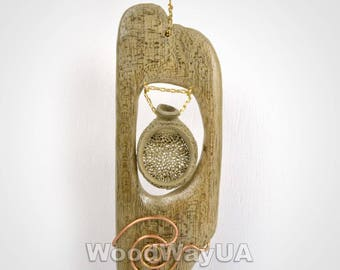 Handmade wooden accessories, new fashion, natural jewerly, modern driftwood