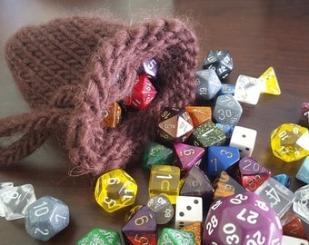 Knit Dice Bags, Crystal Pouches