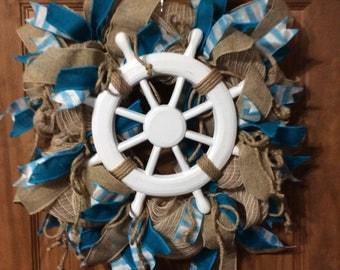 Ship Wheel wreath
