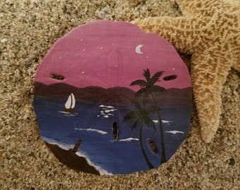 Plum Sky Sand Dollar Ornament