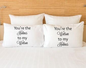 Sherlock Holmes and John Watson pillowcase set