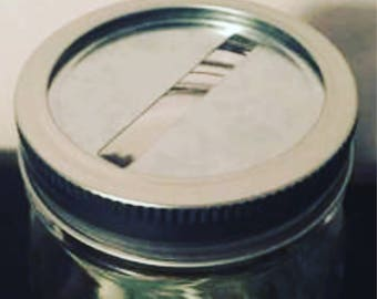 Mason jar money lid