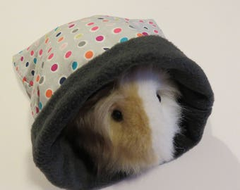 """SMALL & MEDIUM """"Colorful dots"""" cuddle sleep sack bags for guinea pigs/rats/hedgehogs/gerbils"""