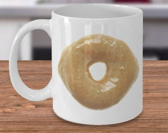 Donut Coffee Mug - Glazed Donut Mug - Doughnut Mug Ceramic Coffee Cup Hilarious Donut Gifts for Men & Women
