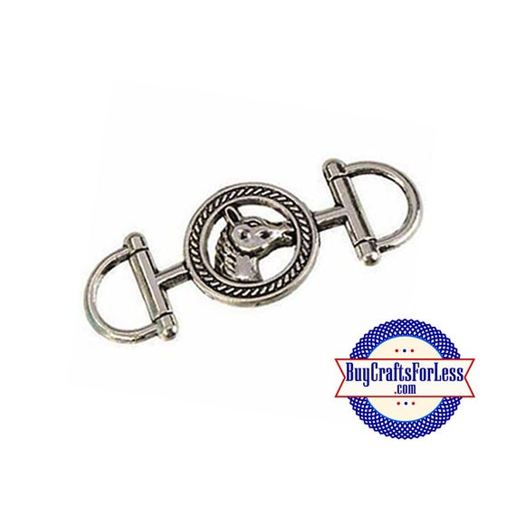 COWBOY HORSE Connector Charm, 2 pcs-perfect for Bracelets or Pendants +FREE SHiPPiNG +Discounts*