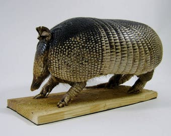 Mounted Nine-Banded Armadillo (G09) for Rustic Americana Home Decor